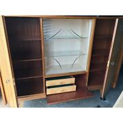 Mid Centre Germany Tiger Maple China Cabinet
