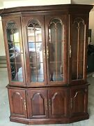 Pennsylvania House Solid Cherry Dining Tableand Hutch