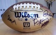 Gold Nfl Football Autographed
