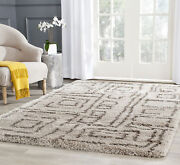 Taupe / Grey Safavieh Power Loomed Belize Shag Area Rugs -sgb487d