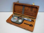 Used Etalon Dial Indicating Micrometer 0-1 With Case
