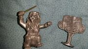Schmid Fine Pewter 1978 Figurines 0040 Lion And Stand     Pdtop