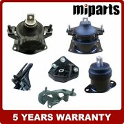 Engine Motor Trans Mount Kit 6pcs Fit For Acura 3.2l Tl 2004 - 2006 Auto