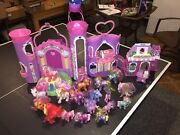 Vintage Rare My Little Pony Celebration Castle And Cotton Candy Cafe And18 Ponies +