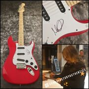 Gfa The Alarm Singer Mike Peters Signed Electric Guitar Proof Ad1 Coa