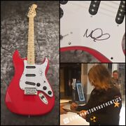 Gfa The Alarm Singer Mike Peters Signed Electric Guitar Proof Coa