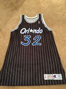Hof Shaquille Oand039neal Authentic Autographed Double Tagged Champion Jersey Sz 52+3