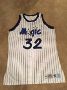 Hof Shaquille Oand039neal Authentic Double Tagged Champion Game Jersey Sz 54+4