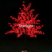 6.5ft Led Christmas Tree Outdoor Maple Tree 864 Leds Red Color Lights Rainproof