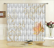 Blooming Flower Circles 3d Curtain Blockout Photo Printing Curtains Drape Fabric