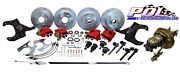 Pol 63-66 Chevy C10 Front And Rear Power Disc Brake Conversion 6-lug Stock Height