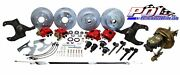 Pol 63-66 Chevy C10 Front And Rear Power Disc Brake Conversion, 6-lug Stock Height