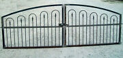 Wide Opening Driveway Gate - Made To Order To Fit Handmade Works W/ 3and039 Fence