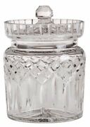 Waterford Crystal Lismore Biscuit Barrel Cookie Candy Jar With Lid Retail 280