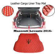Leather Cargo Liner Tray Mat Luxury Fully Tailored Fit Maserati Levante 2016-