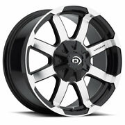 Vision Valor 16x8 5x114.3/5x127 Offset 0 Gloss Black Machined Face Qty Of 4