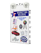 4w X 6h Window Mount Sign Holder With 2 Suction Cups With Hooks Lot Of 24