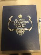 Official Us Presidential Proof Coin Portfolio-109 Proofs, 6 Presidential Medals