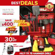 Hilti Te 75 Hammer Drill Preowned Free Rotary Laserbitsextras Quick Ship