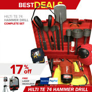 Hilti Te 74 Hammer Drill Preowned Free Rotary Laserbitsextras Quick Ship