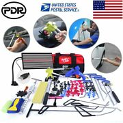 115andtimes Paintless Dent Repair Puller Lifter Pdr Tools Rods Led Light Hail Tail Set