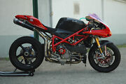 Ducati 848 1098 1198 Qd Exhaust Slipons Twin Link Pipe And Round Carbon Mufflers