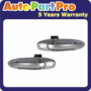 For Toyota Tundra Sequoia 1c7 Thunder Gray Metallic Outer Door Handle Front Pair
