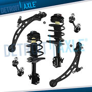 6pc Front Strut Pair Lower Control Arm Ball Joint For 1995-96 Toyota Camry 2.2l