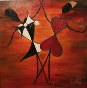 Oil Painting Dance Of Hearts 36x36