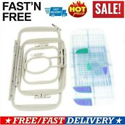 4pcs Embroidery Hoop Set For Brother Sewing Machines Pe700 Pe750 750d 780d Pe770