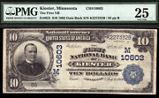 10 1902 Pb The First National Bank Of Kiester, Minnesota Ch 10603 Only 6 Large