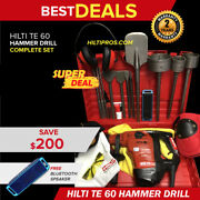 Hilti Te 60 Hammer Drill Preowned Free Bluetooth Speaker Extras Quick Ship