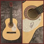 Gfa The Alarm Singer Mike Peters Signed Acoustic Guitar Proof M2 Coa