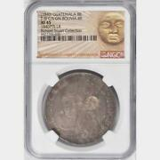 1840 Guatemala 8 Reales Counterstamped Bolivia 8 Soles Ngc Xf 45 Scarce Type Iii