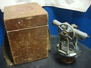 Vintage Kande Keuffel And Esser Co. Survey Transit With Wooden Box