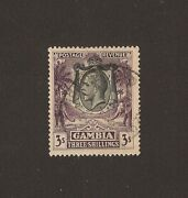 Gambia 1922/9 Sg 139 Used Cat Andpound475 .