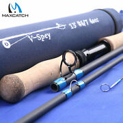 Maxcatch 6/7/8/9/10wt Spey Fly Fishing Rod Two-handed Fishing Rod W/ Rod Tube