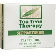 Tea Tree Therapy Vaginal Suppositories With Tea Tree Oil 6 Ct