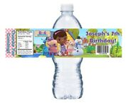 10 Doc Mcstuffins Custom Birthday Party Favors Water Bottle Labels Wrappers