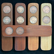 50th Birthday Gift Present Two-up Game Set 1971 Australian Pennies Two Up