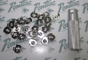 1936-1990 Pontiac Molding, Emblem, Ornament, Mounting Clips Kit With Tool