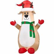 Gemmy Inflatable Airblown Reindeer Outdoor Christmas Decor - W/led White Lights