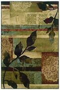 Huntington By Oriental Weavers. Transitional Abstract Area Rug. Blue/green 1983a