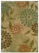 Infinity By Oriental Weavers. Transitional Floral Area Rug. Green/beige 1134a