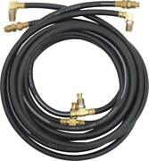 1955-61 Gm Full Size Convertible Top Hydraulic Hose Set Black Rubber