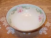 """Hand Painted Bavarian Porcelain Serving Bowl, 3-1/2"""" High X 9"""" Round, BEAUTIFUL!"""