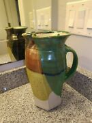 HICKORY TREE STUDIO POTTERY CERAMIC ABSTRACT ART WALT SCHMIDT PITCHER VASE JUG