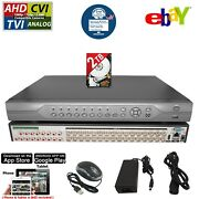 32 Channel H.265 H.264 Dvr With 2tb Hard Drive Security Camera Video Recorder