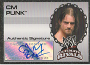 Cm Punk 2008 Topps Wwe Ultimate Rivals Autograph Auto Card