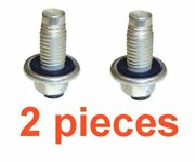2 12mm 1.75 Magnetic 15mm Hex Drain Plugs W/ Inset Gaskets Rpl Gm 11562588